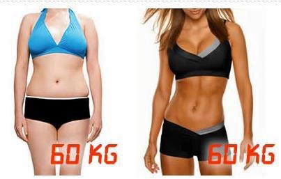grasa musculo mismo peso
